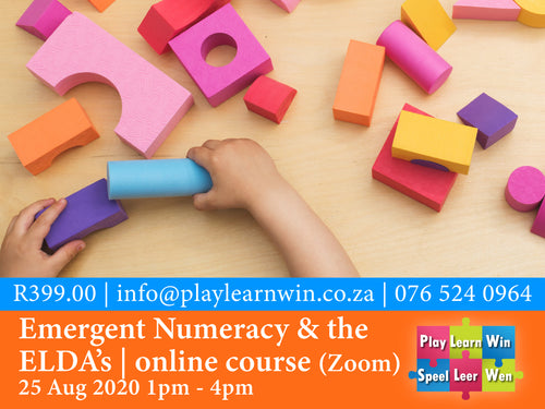 Emergent Numeracy & the ELDA's Online Zoom Course 25 Aug 2020 | R399