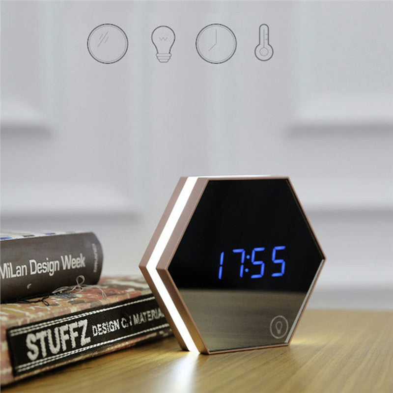 Multi-functional Touch-Screen LED Alarm Clock - EastEnd Modern