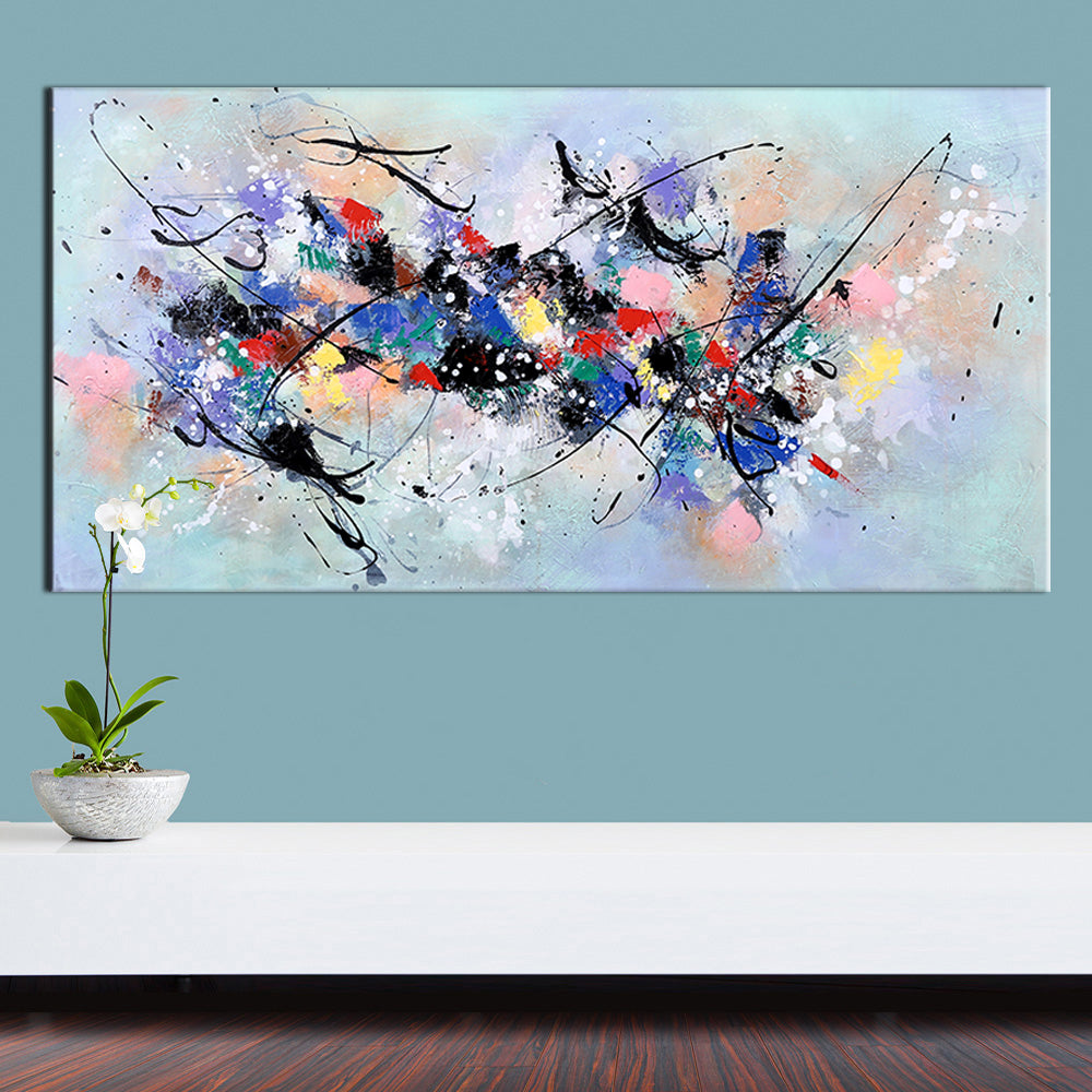 Hand Painted Abstract Canvas Oil Painting - EastEnd Modern