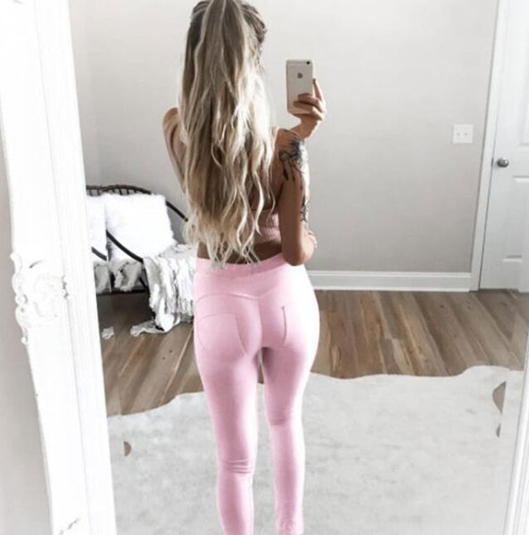Sexy Candy Color Patchwork Hip Casual Pencil Pants