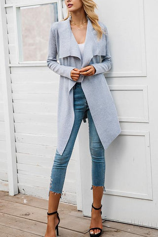 Onlinechoic Casual Wild Wool Cardigan Coat