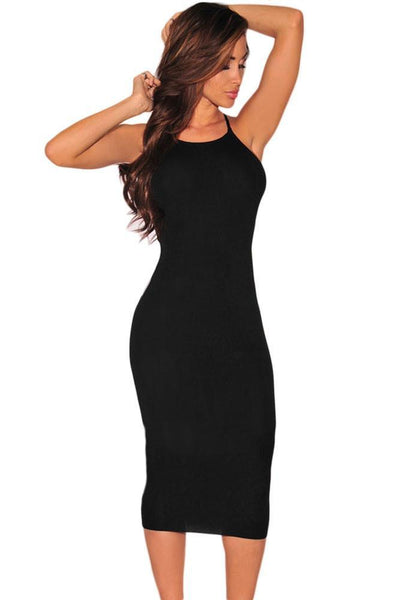 Fashion Onlinechoic Black Hardware Cut Out Sides Dress