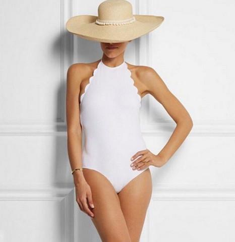 Halter Padded Shell Backless One Piece Swimwear
