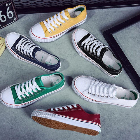 Classic Candy Color Canvas Lovers Sneakers Shoes