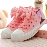 Pink beauty Bowknot Lace Up Sneakers