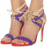 Straps Ankle Wrap Open Toe Stiletto High Heels Sandals