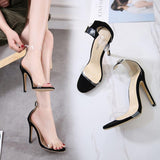 Stiletto Heel Transparent Peep-toe Summer Ankle Strap Sandals