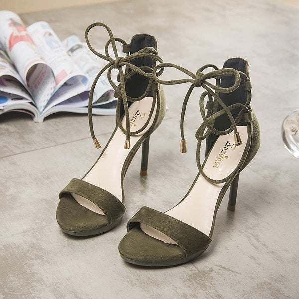 Open Toe Ankle Straps Wrap Stiletto High Heel Sandals