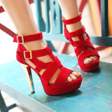 Sexy Ankle Wrap Open Toe Platform High Heel Sandals