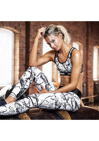 White Floral Print High Waisted Sports Long Jumpsuit