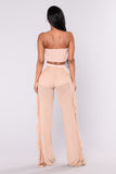 Sunshine See Through Cover Up Pant - Mocha