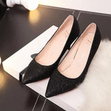 PU Stiletto Heel Pointed Toe Shinning Sandals