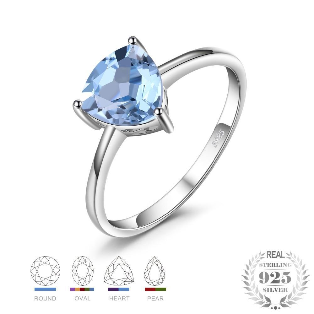 Sterling Silver 1.5ct Natural Sky Blue Topaz Ring