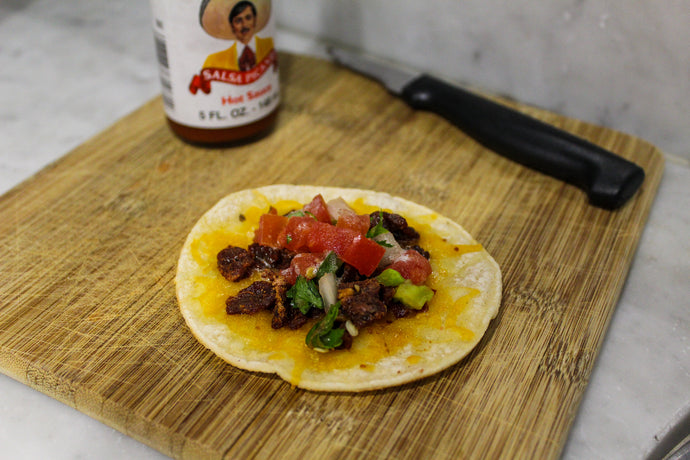 Tong Steak Jerky Tacos
