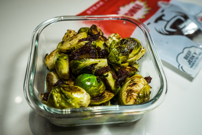 Jerky Roasted Brussels Sprouts