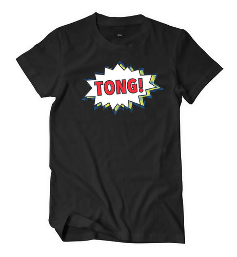Tong Black T-Shirt (Male) - Tong Jerky