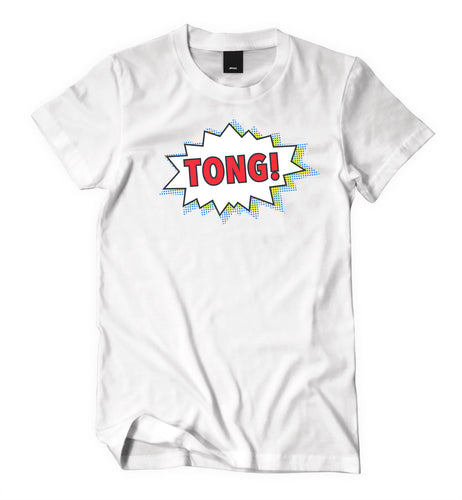 Tong White T-Shirt (Male) - Tong Jerky