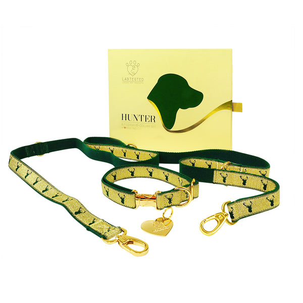 Hunter 6 In 1 Leash & Collar Set with Dog Tag