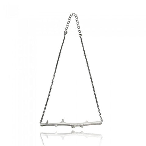 Line Up Rose Necklace - Silver