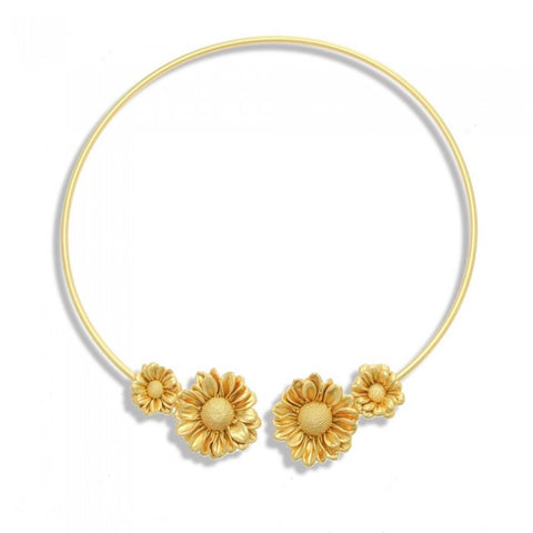 Ianthe Daisy Necklace - Gold