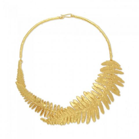 Harmony Fern Necklace - Gold
