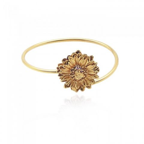 Crysanthe Chrysanthemum Bracelet - Gold