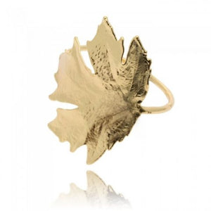Autumn Perfume Maple Leaf Bracelet - Gold