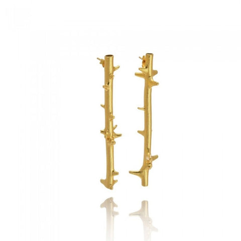 Rodea Rose Earrings - Gold