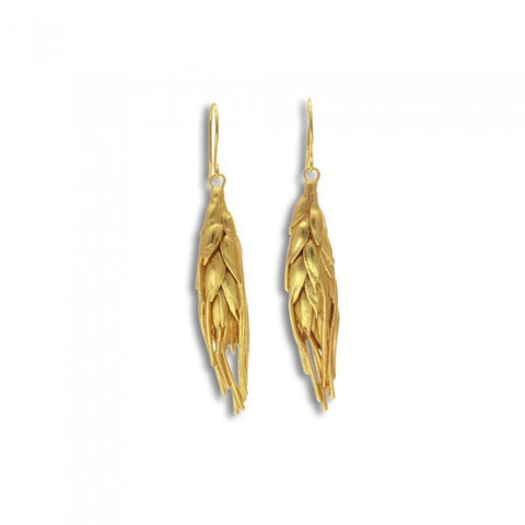 Demetra Wheat Earrings - Gold