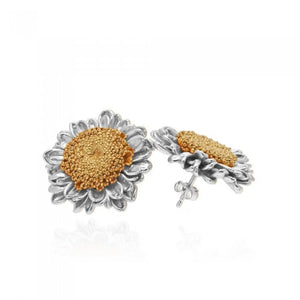 Ianthe Daisy Earrings - Silver / Gold