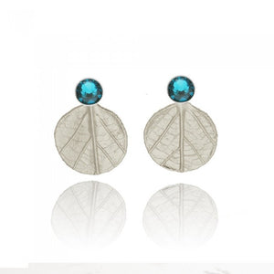 Amaryllis Earrings - Silver / Blue
