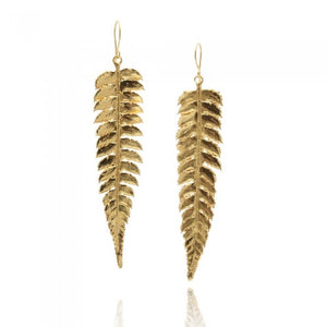 Memories Fern Earrings - Gold