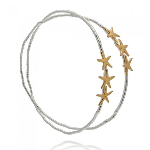 Starfish Star Wedding Crowns - Silver