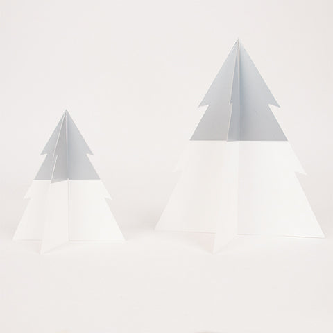 two-colored Christmas tree - silver & white