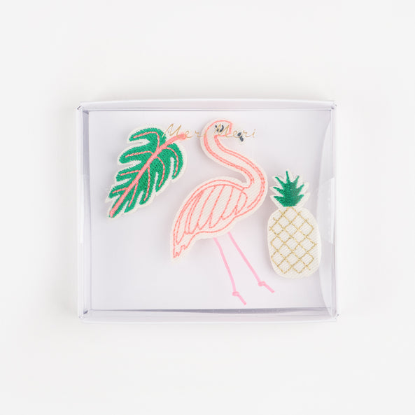 3 broches - Tropical