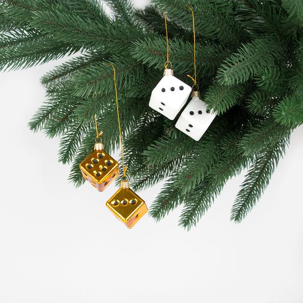 1 small Christmas decoration - Lucky dice
