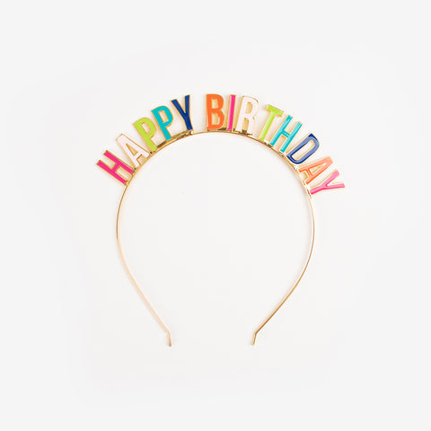 1 Headband - Happy Birthday