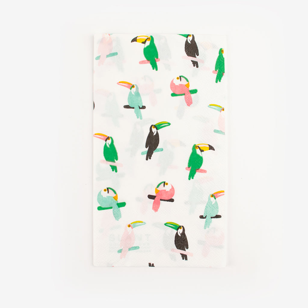 16 serviettes - Toucan multicolore - My Little Day