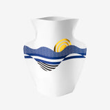 Vase papier Salina - Bleu et doré - My Little Day