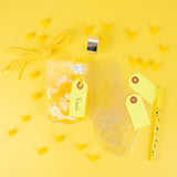 10 gift tags - Jaune fluo