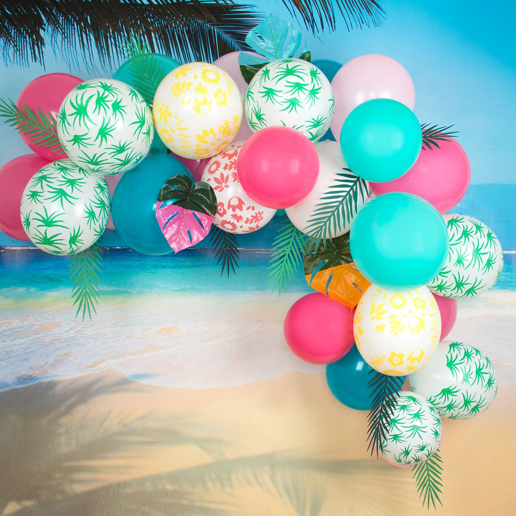 Arche de ballon tropicale avec ballons de baudruche My Little Day.