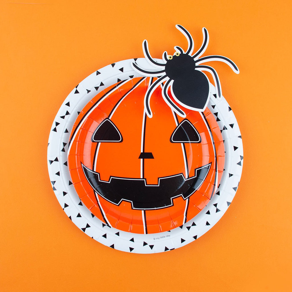 8 petites assiettes mini citrouille - Halloween - My Little Day