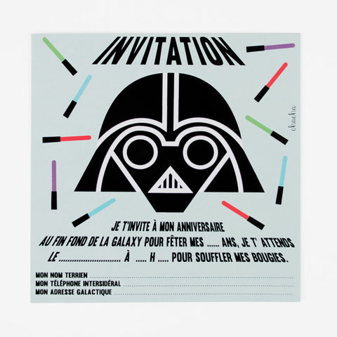 8 cartons d'invitation - Star Wars