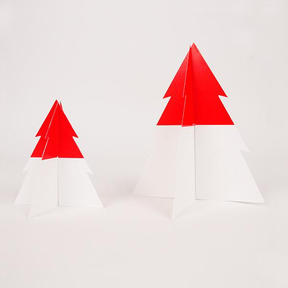 two-colored Christmas tree - red & white