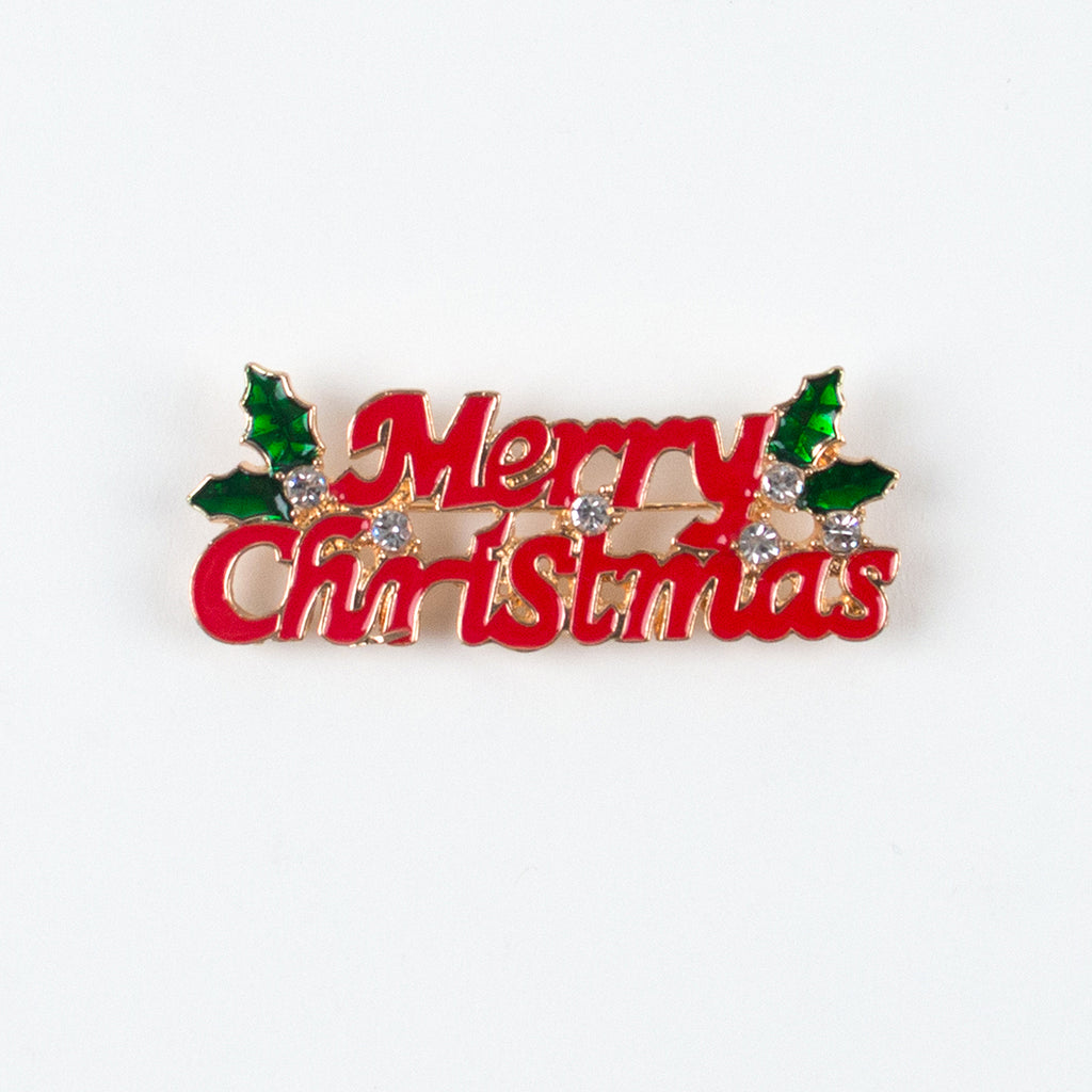 1 broche Merry Christmas - Noël - My Little Day