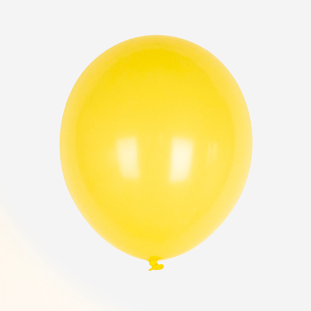 Ballons baudruche jaune de My Little Day pour decoration fete ou baby shower.
