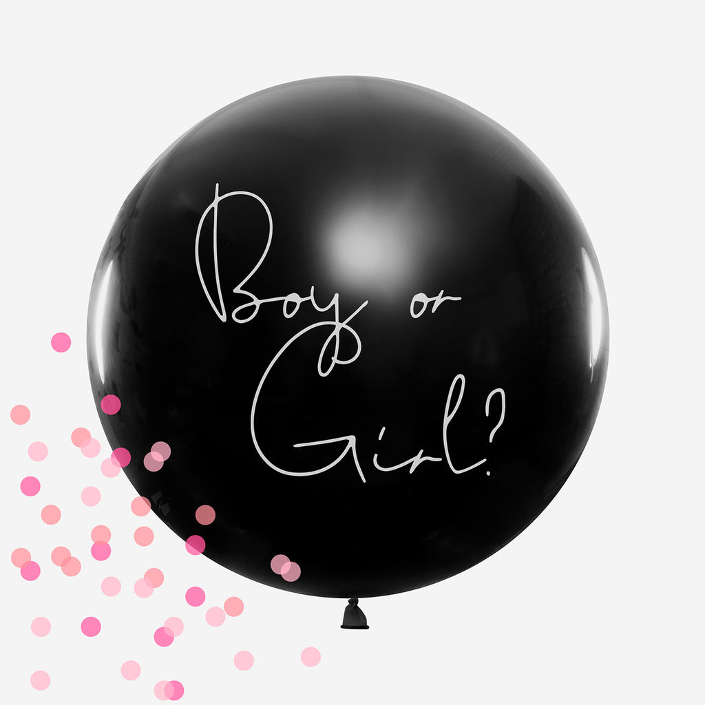 kit ballon baby shower, gender reveal c'est une fille