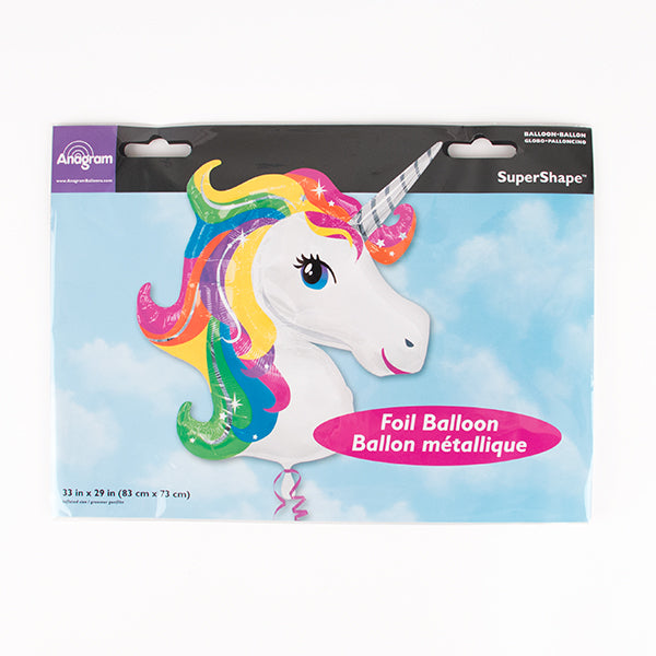 1 ballon licorne - Multicolore