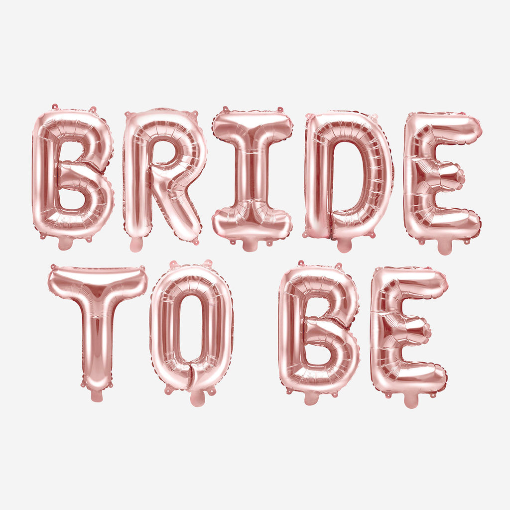ballons lettre  bride to be rose gold