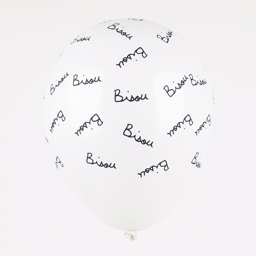 Ballons de baudruche bisou Mathilde Cabanas pour My Little Day.